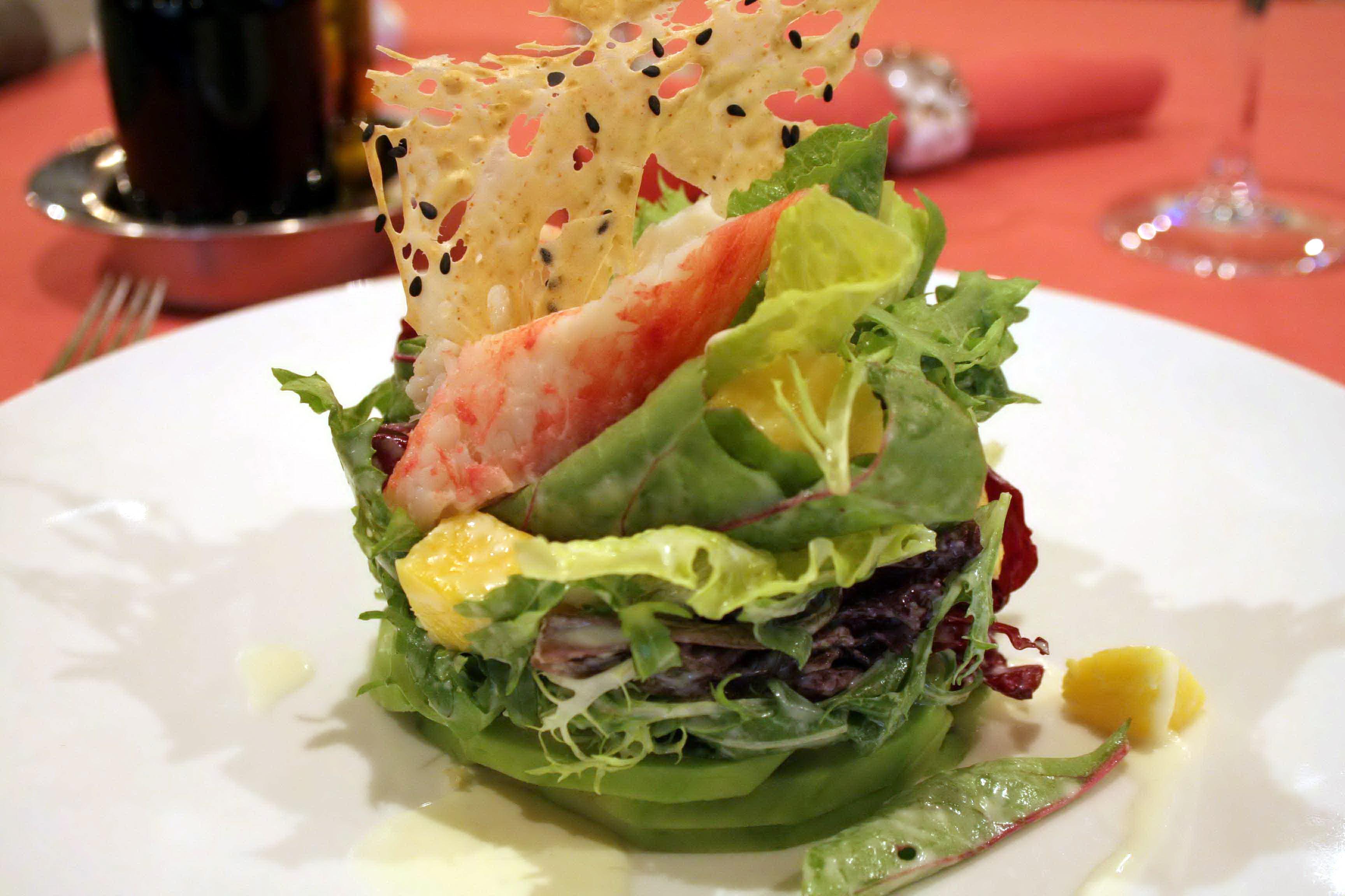 Фото салаатов в ресторане 28 фотография