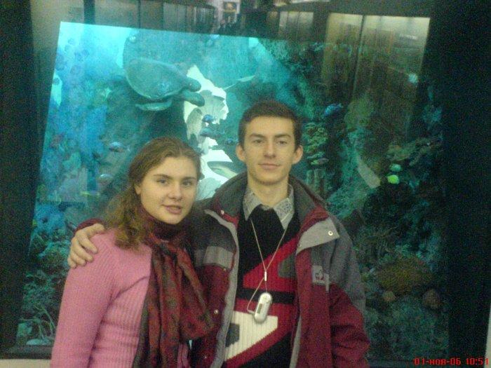 С одногрупницей в музее :)