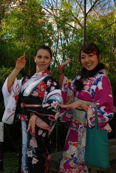 я с моей японской подружкой в Киото