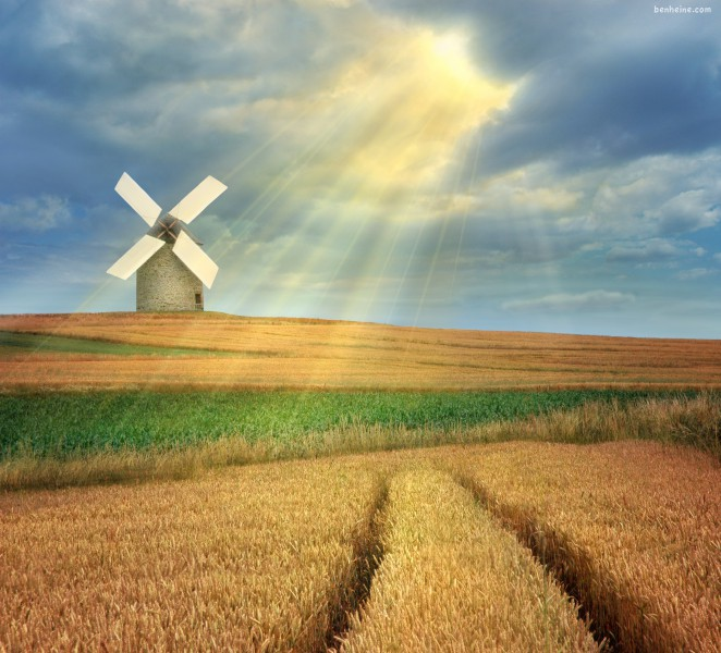 The Magic Windmill (Ben Heine)