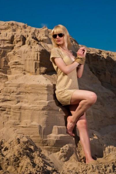 На песках