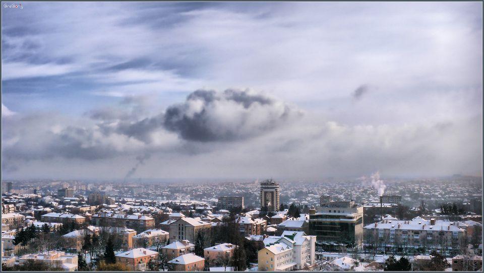 Снігопад / Snowfall *  17.01.2012 10:44:41 * Вінниця / Vinnytsy