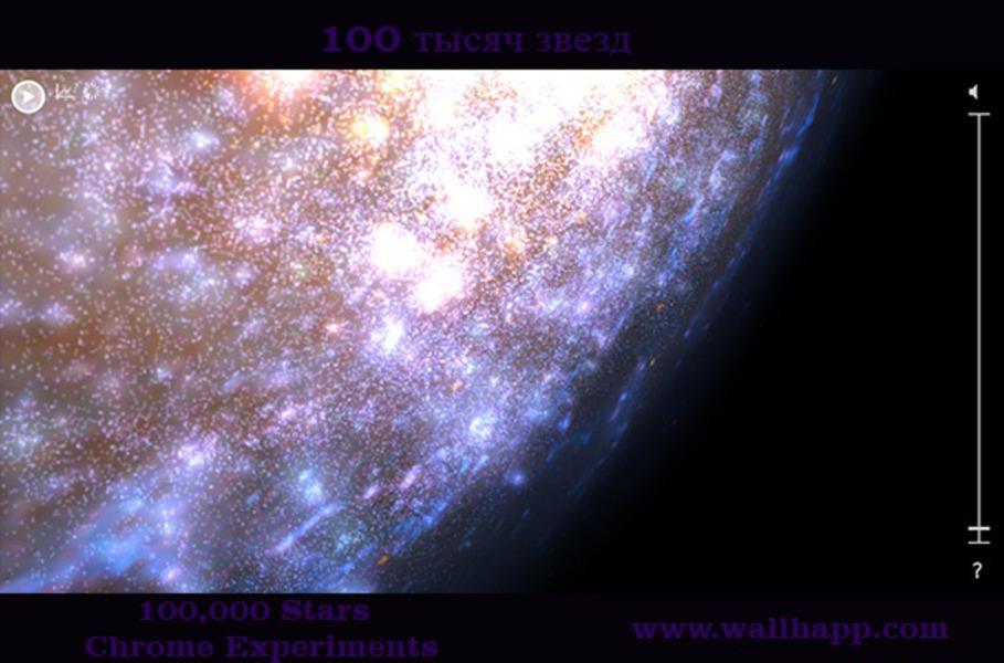Сто тысяч звезд. Интерактивная визуализация звездного неба. http://www.wallhapp.com/100-000-stars