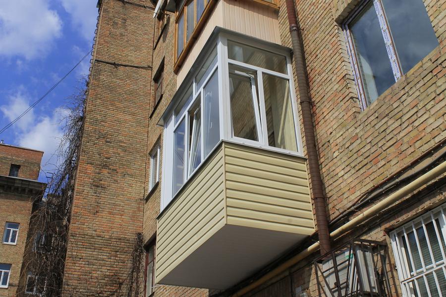 Фото - балкон с выносом по полу - балкон обшивка - bigmir)ne.