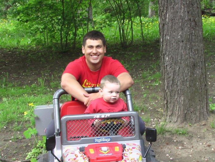 с сыном, 2006