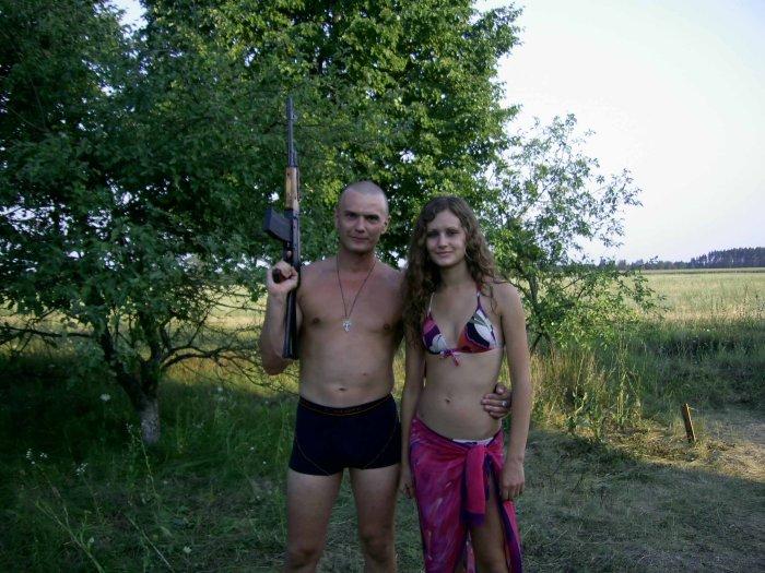 на стрельбах в лагере