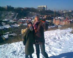 Жаннет та я на горі біля Андріевського узвозу