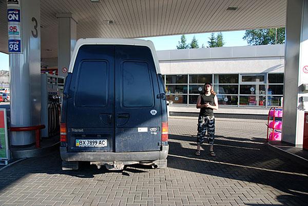 последняя заправка в Польше 20/06/2008