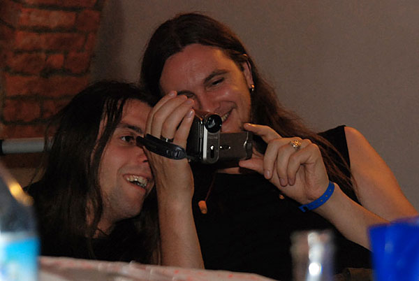 в гримерке Music Club 13 Opava, Czech Republic 21/06/2008