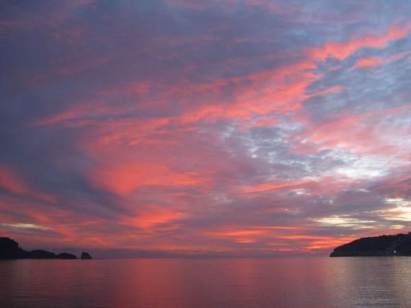 Черногория, закат над Будвой