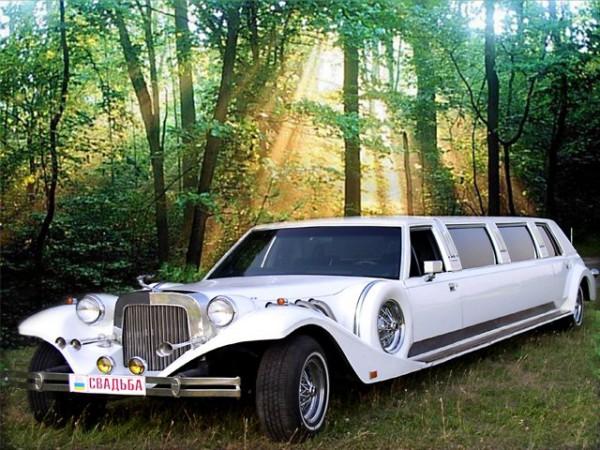 Ретро-лимузин для свадьбы в Киеве