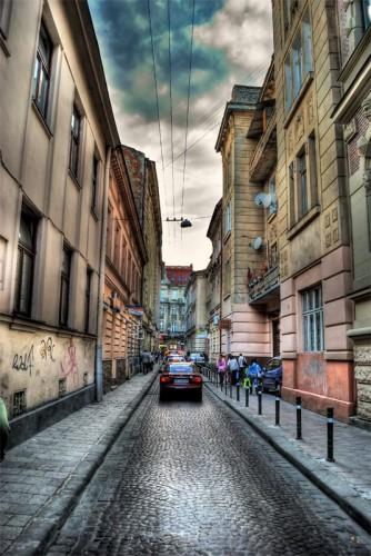 Узкие улочки Львова