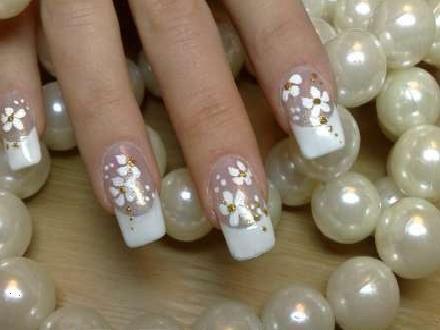 квадратные ногти, роспись