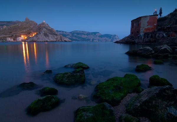 Тихий вечер в балаклавской бухте