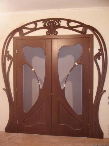 Двери деревянные - межкомнатные. Стиль модерн