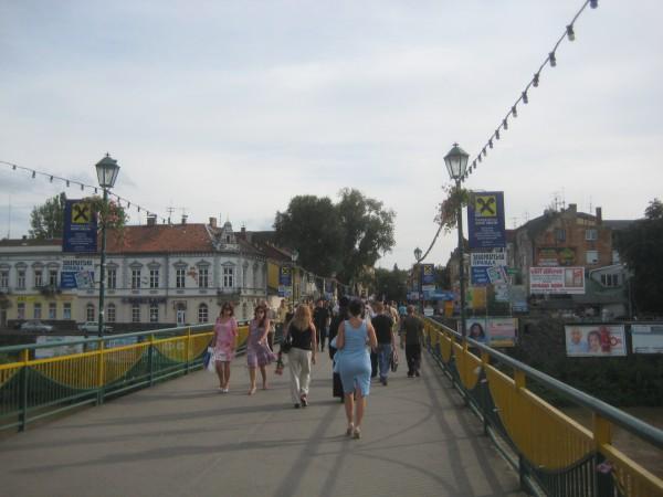 мост через Уж в центре