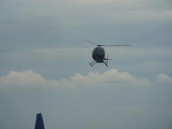 Вертоліт заходить на посадку