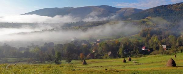 панорама закарпатского утра