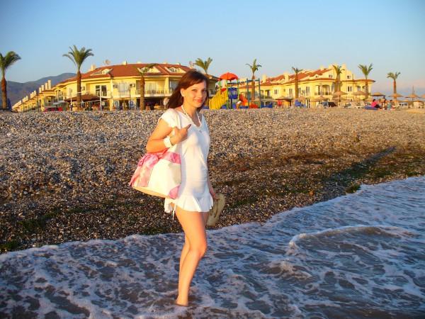 а это пляж, где я жила. р-н Фетхие