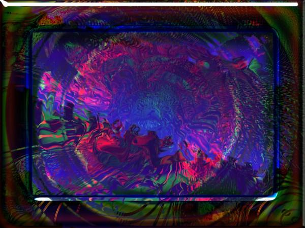 абстракция, на тему подводного мира