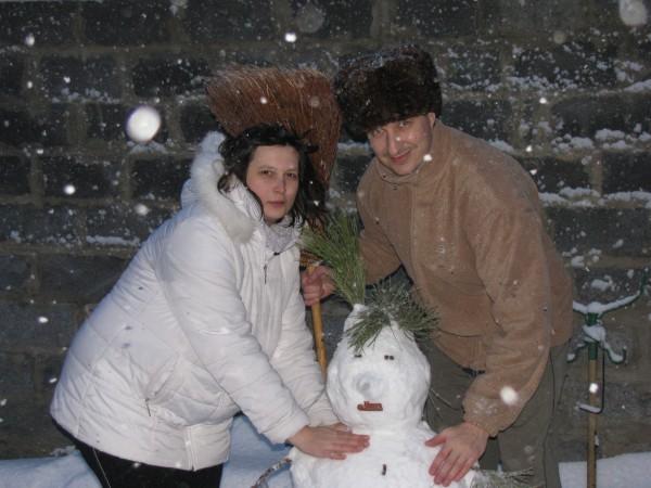 И снеговик с нами