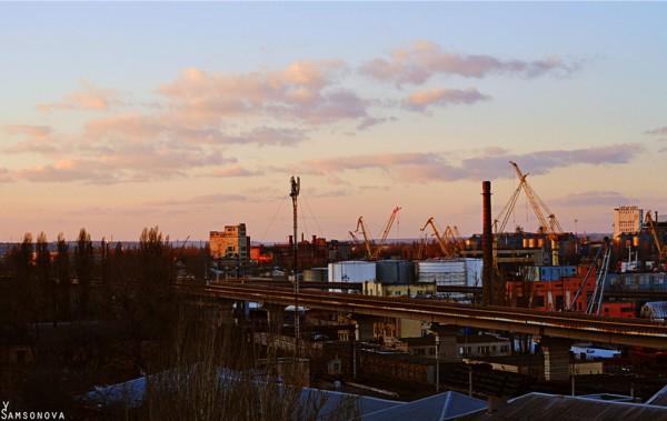 Одесса.Вид на морской порт.