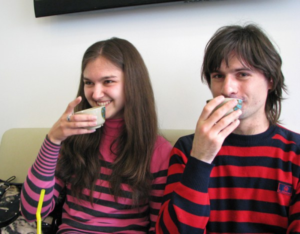 Пьём волшебный шаровый чай ))