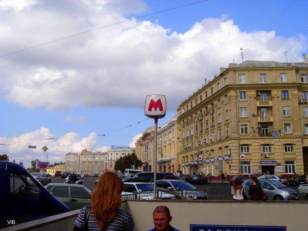 Вход в метро Советская площадь