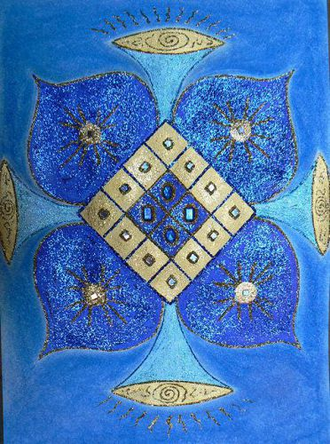 Матрица Синего Цвета