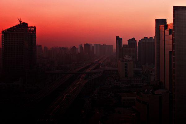 Зимний вечер в Чжэнчжоу