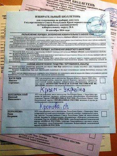 выборы крым 2014