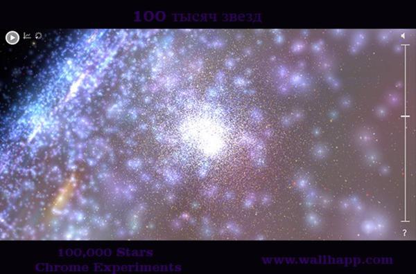 Сто тысяч звезд. Интерактивная 3D визуализация звездного неба. http://www.wallhapp.com/100-000-stars