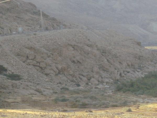 Дорога вдоль берега Мертвого моря