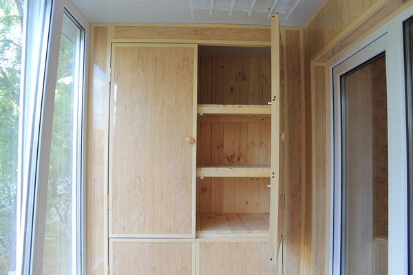 Шкаф из панелей пвх на балкон своими руками 17