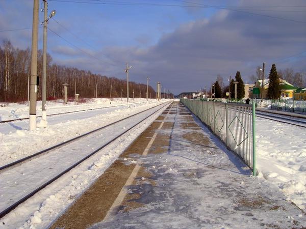 Зимний разъезд на станции Дятьково