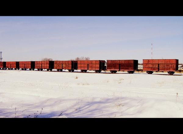 Старинный грузовой поезд