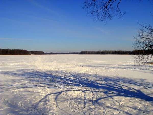 Зимнее Белобережское озеро
