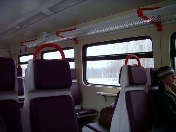 В салоне нового поезда