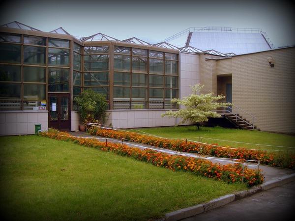 Вход в оранжерею ботанического сада имени Гришко