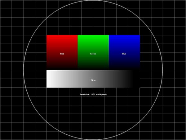 Настроечная таблица для монитора 1152х864