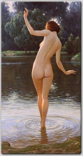 Вот такая вот картина по воде шла балерина