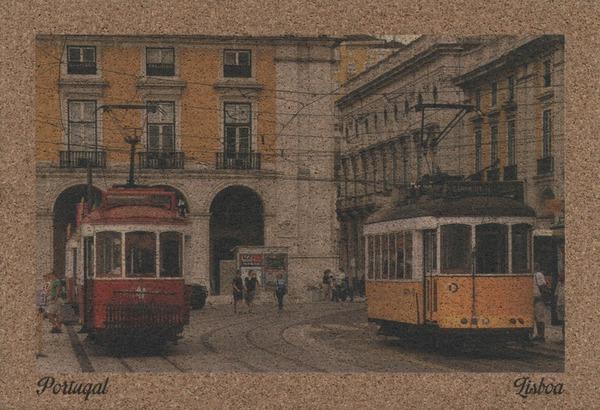 открытка из пробки