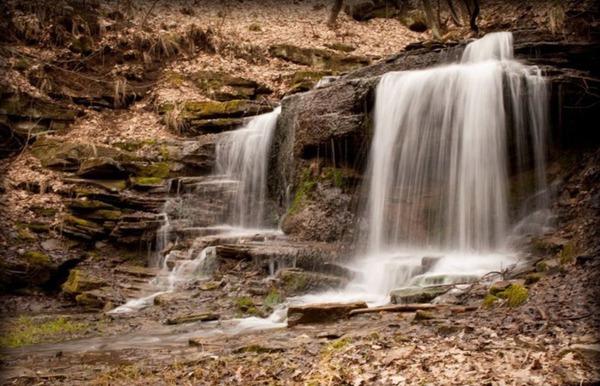 Водопад в Городище, Луганская область.