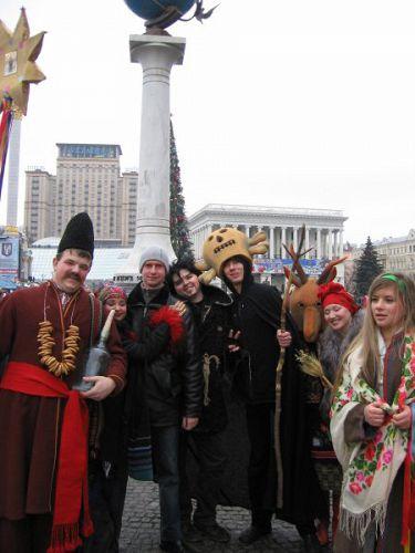 Дни на Майдане близ Новогодней елки 2007