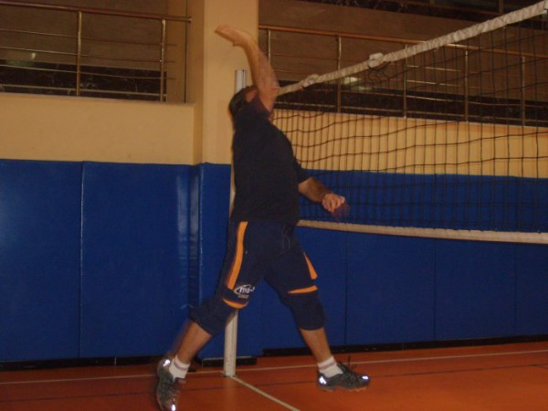 when i am playing volleyball!