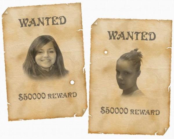 """Постер з розряду """"Їх шукає міліція!"""". Небезпечні дівчата! Також дякую Shtefko!!!!"""