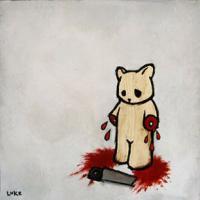 бедный мишка......