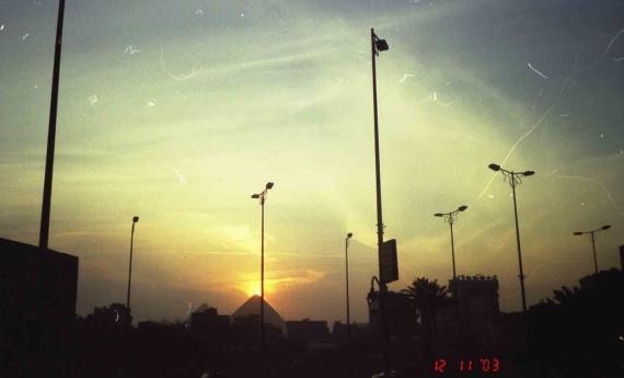 Закат.Пирамида Хеопса.