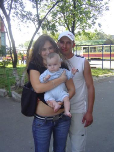 любимый племяшка, братик и я))