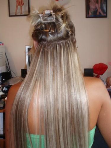 нарощенные волосы - Схемы в работе.